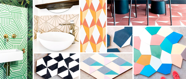 Hexagonal cement tiles, diamond, hexagonal large, ...