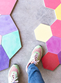POP cement tiles, modern and bright cement colours