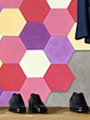Mix of 20x23cm hexagonal plain POP encaustic tiles
