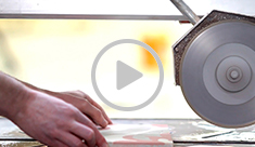 Cutting of cement tiles - video