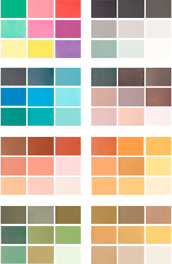 cement colors, colores cemento